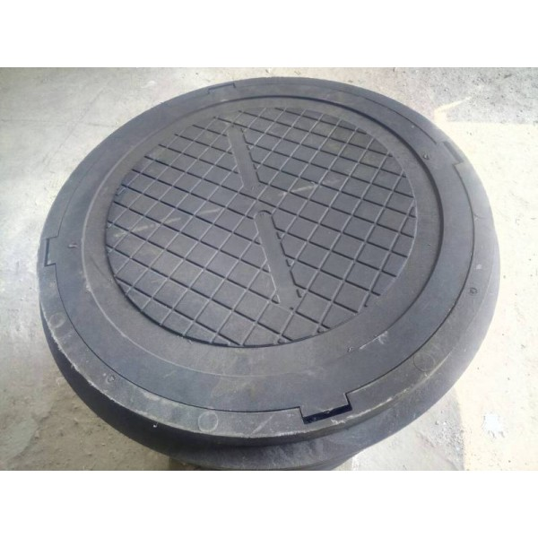 Люк садовый 1.5т  d.80  полимерпесчаный (канализационный)