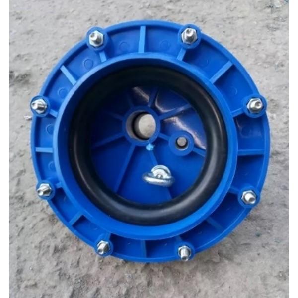 Оголовок герметичный для скважины d.125(синий)