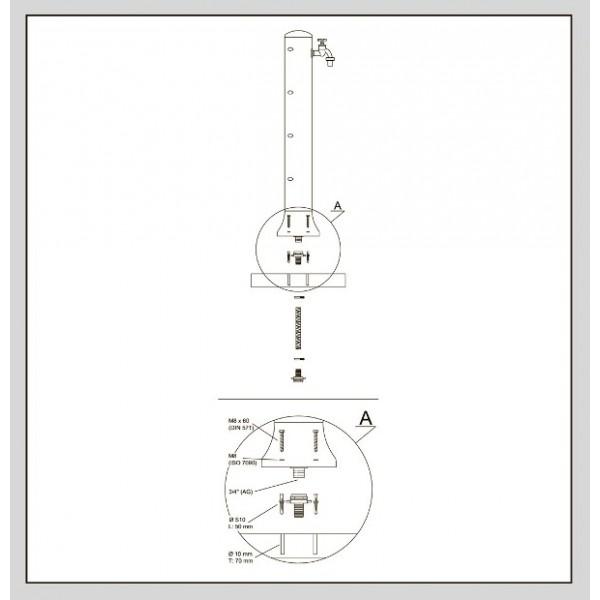 Колонка водораздаточная Рондо(серая)