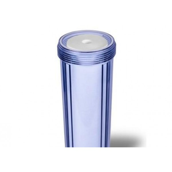 """Колба для магистрального фильтра  Big Blue BB20 1"""" Crystal для холодной воды( без картриджа) Прозрачная"""