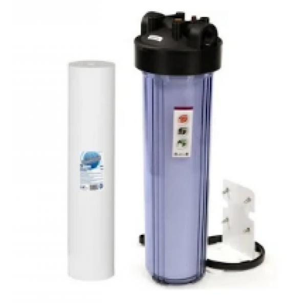 """Магистральный фильтр  Big Blue BB20 1"""" для холодной воды( с картриджем полипропилен 10) Прозрачный"""