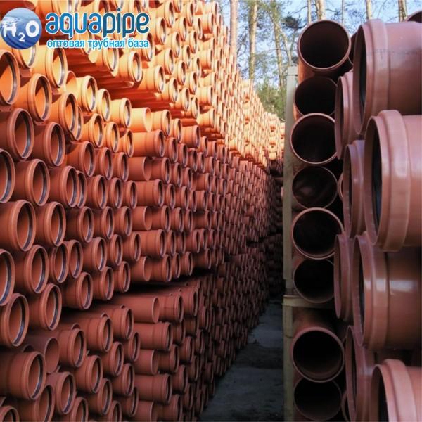Труба для наружной канализации VALROM д.200x4.9х1м