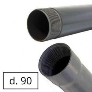 Труба обсадная для скважин d=90*4.5 мм, L=3 м серая