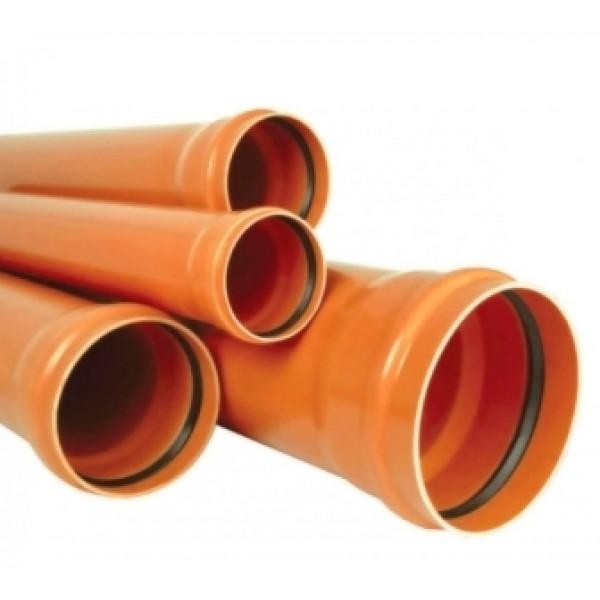 Труба для наружной канализации VALROM д.160x4.0х1м