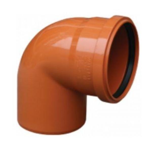 Колено Valrom ПВХ 160/90 для наружной канализации