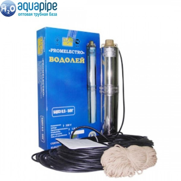 Насос для скважин Водолей БЦПЭ-0,5-32У (кабель 16м)