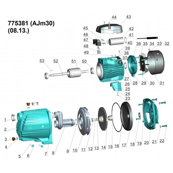 Насос центробежный самовсасывающий 0.3кВт Hmax 35м Qmax 45л/мин LEO 3.0 (775381)