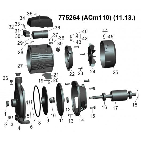 Насос центробежный 1.1кВт Hmax 40м Qmax 120л/мин LEO 3.0 (775264)