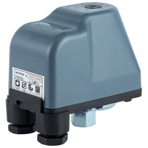 Реле давления 1.1кВт 1.4-2.8 бар (гайка) WETRON (779731)