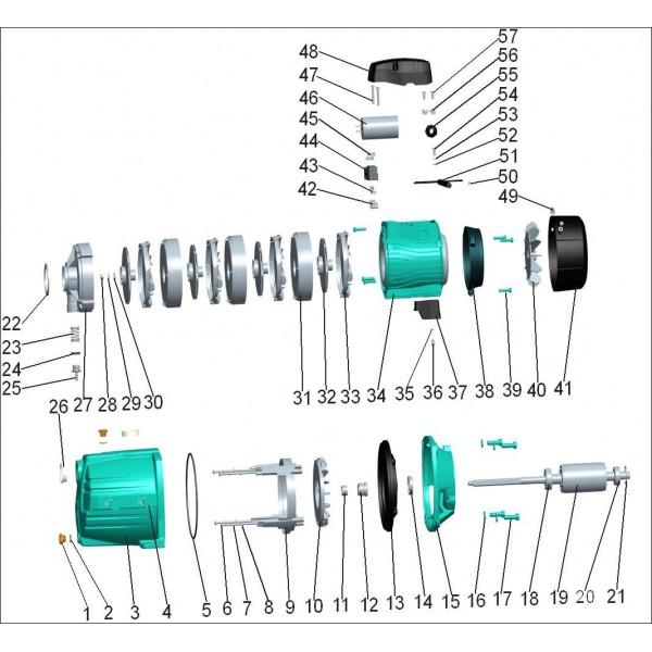 Насос центробежный многоступенчатый 0.6кВт Hmax 46,5м Qmax 70л/мин LEO 3.0 (775432)