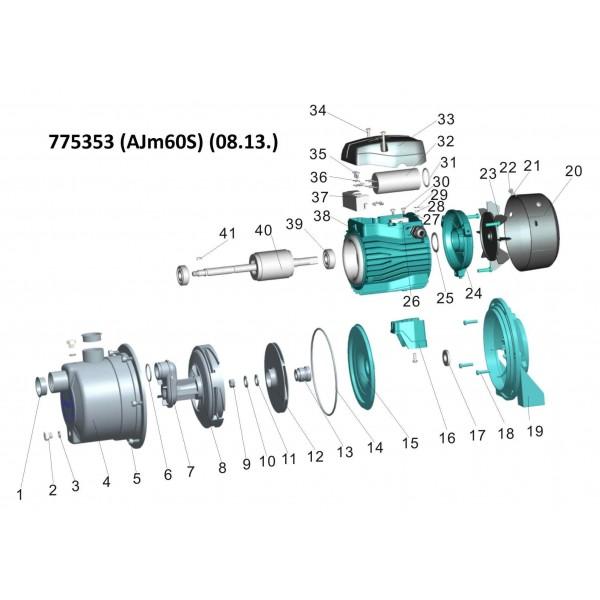 Насос центробежный самовсасывающий 0.9кВт Hmax 48м Qmax 60л/мин (нерж) LEO 3.0 (775355)