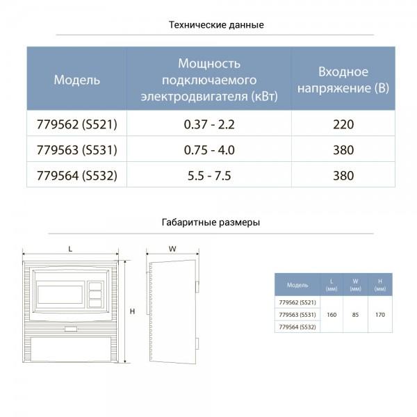Пульт управления 220В 0.37-2.2кВт + датчик уровня AQUATICA (779562)