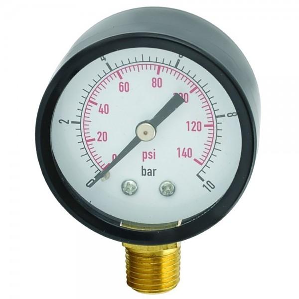 Манометр радиальный 10 бар 50мм WETRON (779738)