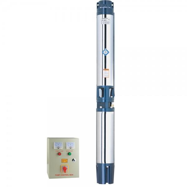 Насос центробежный скважинный 380В 22кВт H 120(65)м Q 1200(1000)л/мин Ø151мм+пульт DONGYIN (7776883)
