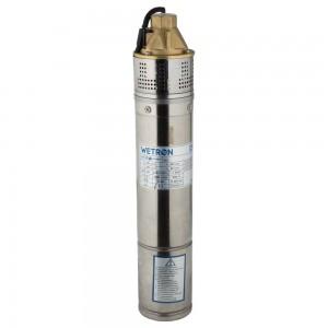 Насос вихревой 0.75кВт H 58(34)м Q 45(20)л/мин Ø96мм 10м кабеля WETRON (4SKmw100M) (778331)