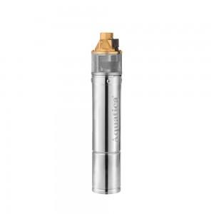 Насос вихревой 0.75кВт H 58(34)м Q 45(20)л/мин Ø96мм 10м кабеля (4SKm100M) AQUATICA (778311)