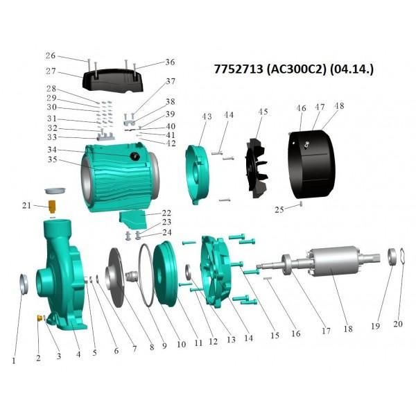 Насос центробежный 380В 3.0кВт Hmax 30м Qmax 800л/мин 2