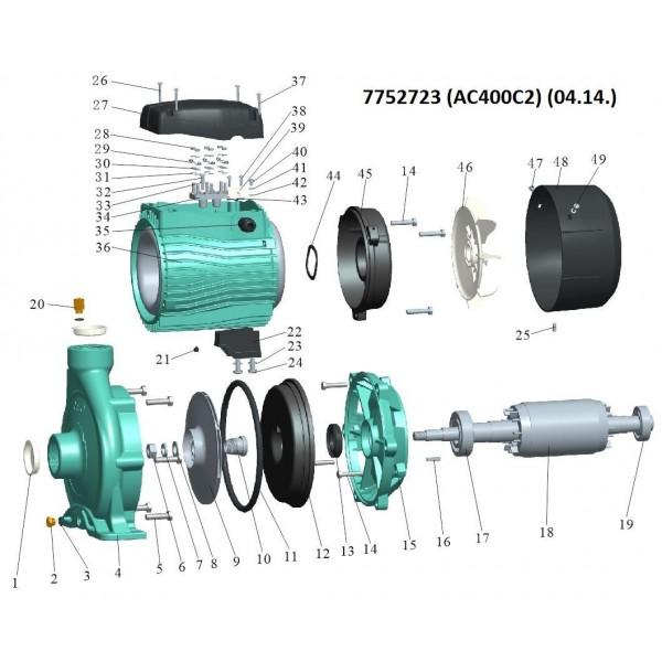 Насос центробежный 380В 4.0кВт Hmax 39м Qmax 900л/мин 2