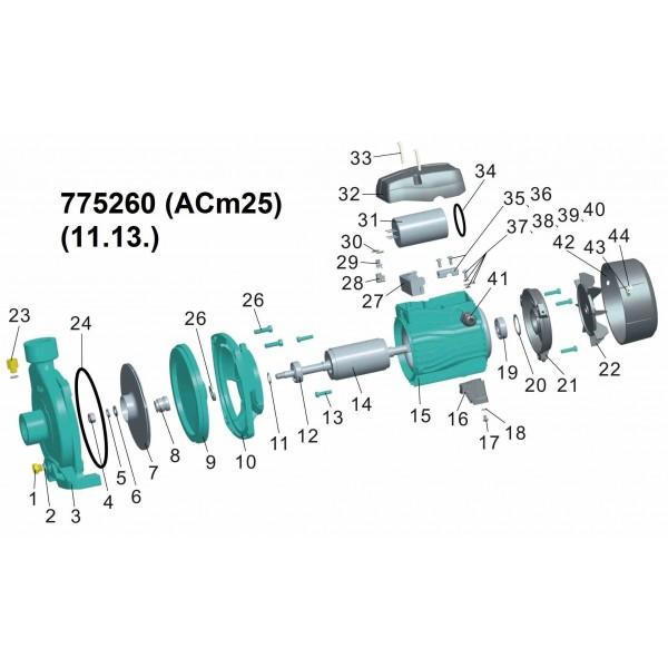 Насос центробежный 0.25кВт Hmax 17м Qmax 80л/мин LEO 3.0 (775260)